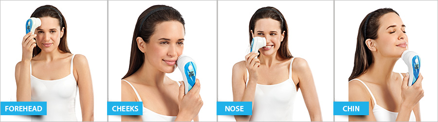 Use of Silk'n Sonic Clean Plus device on face
