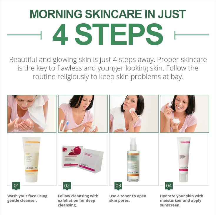 Morning Skincare in just 4 steps