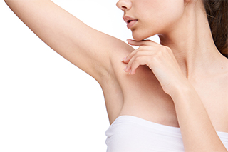 Woman smooth armpits