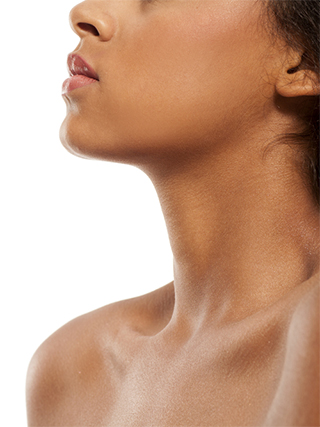 woman's neck and chin